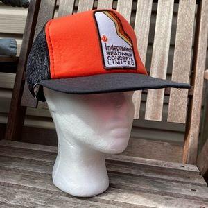 Vintage 80s Trucker hat construction deadstock